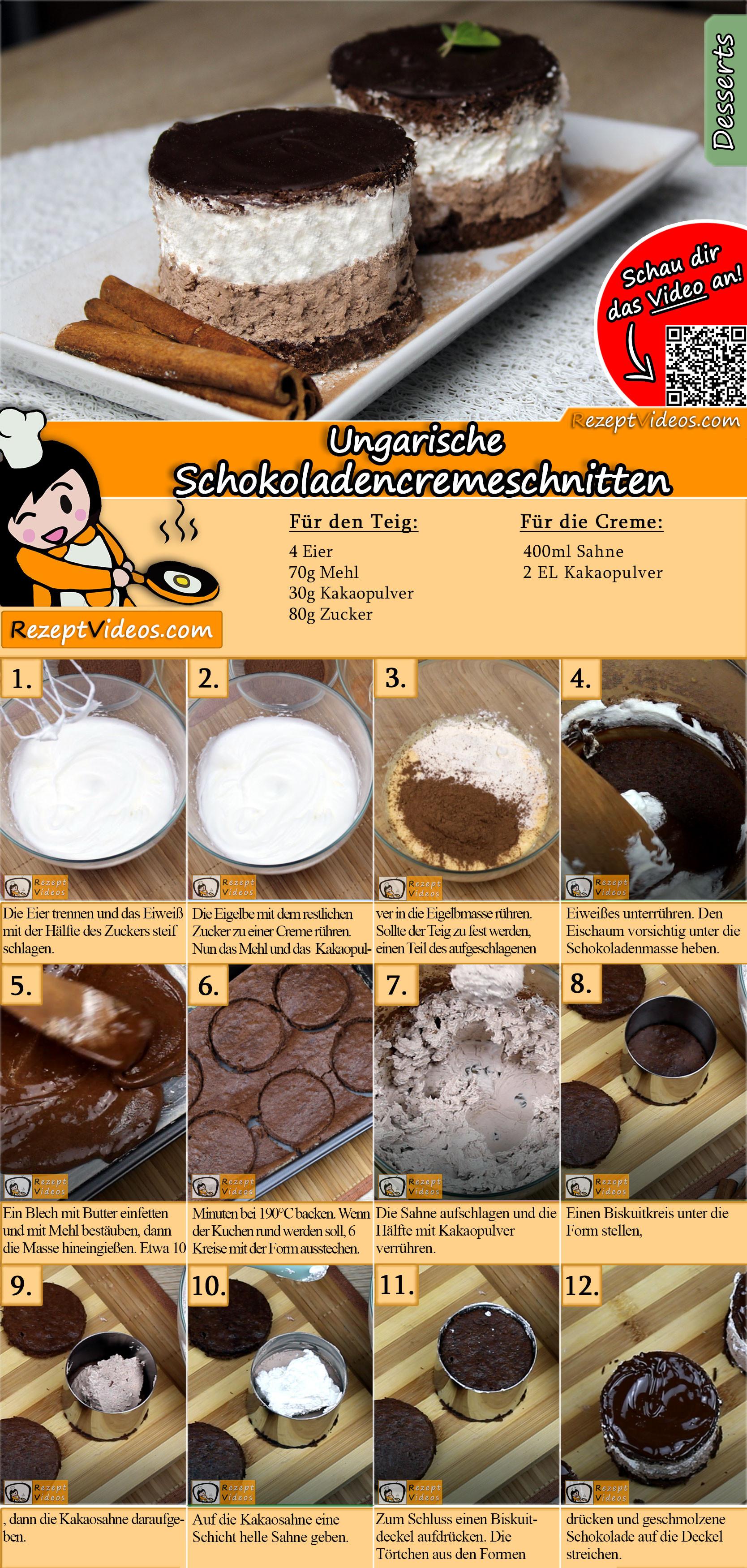Rigó Jancsi – Ungarische Schokoladencremeschnitten Rezept mit Video