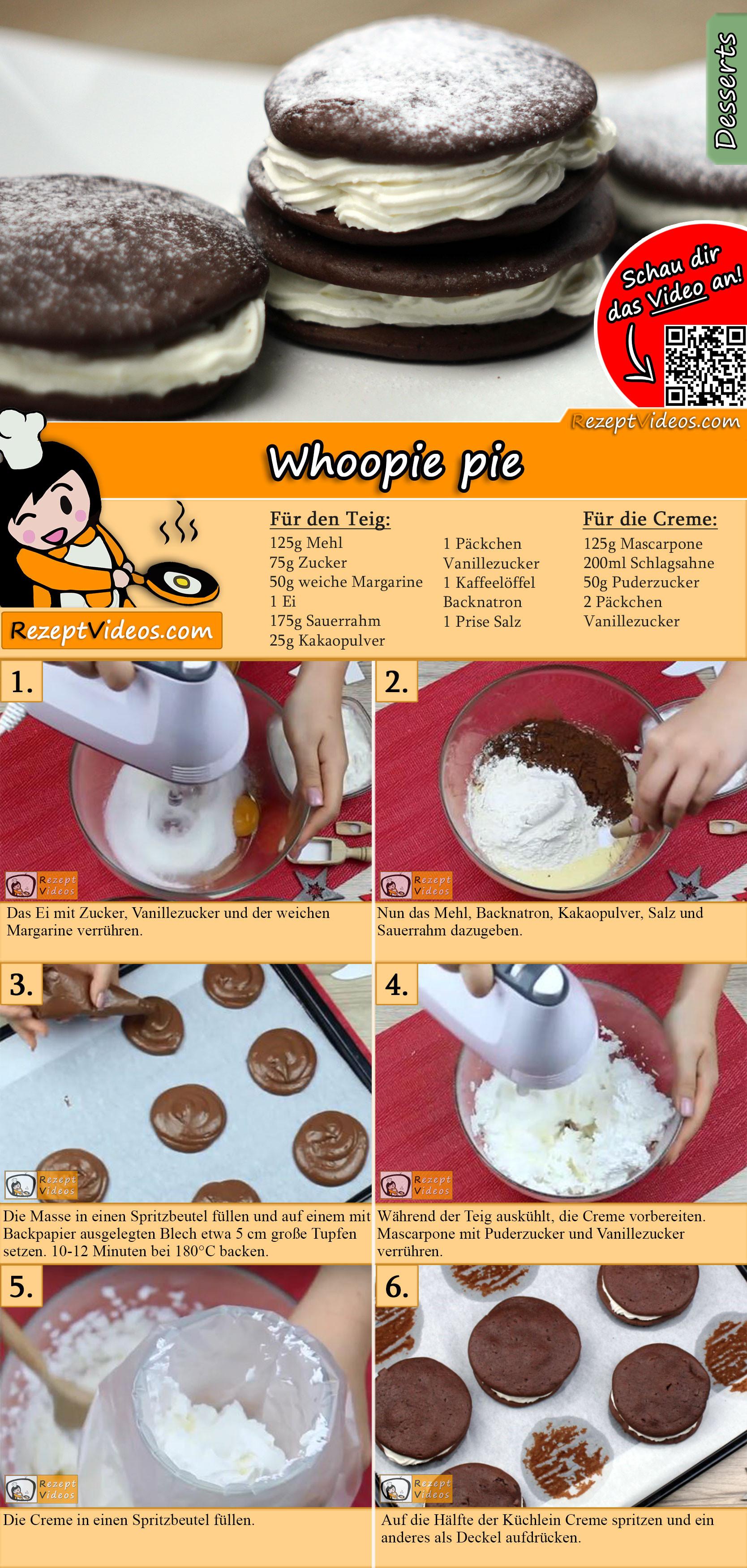 Whoopie Pie Rezept mit Video