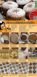Zimt-Apfelkuchen-Muffins Rezept mit Video
