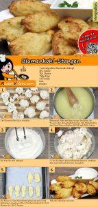 Blumenkohl-Stangen Rezept mit Video