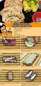 Gefüllte Koteletts im doppeltem Speckmantel Rezept mit Video
