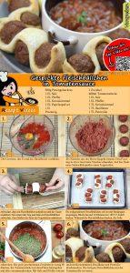 Gespickte Fleischbällchen in Tomatensauce Rezept mit Video