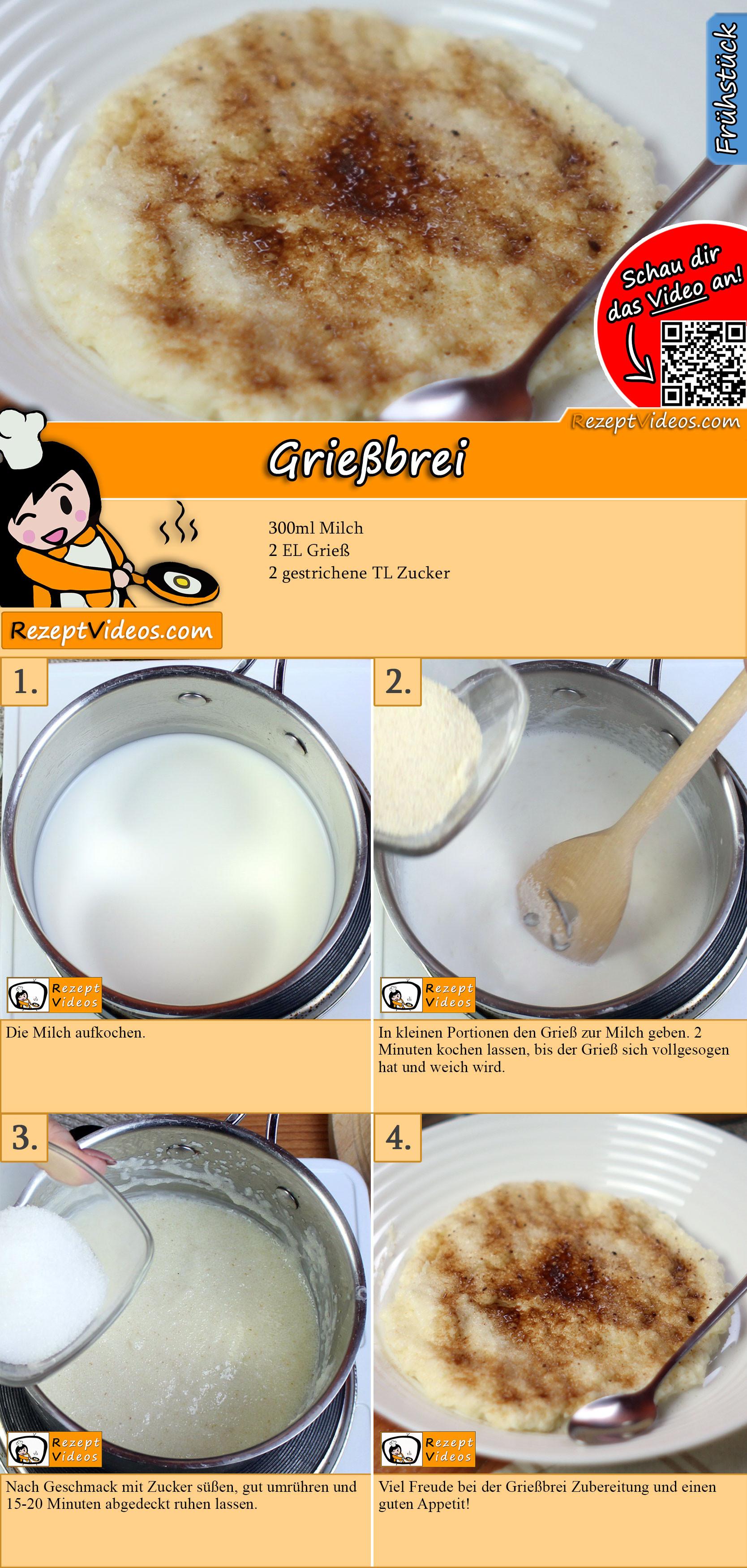 Grießbrei Rezept mit Video