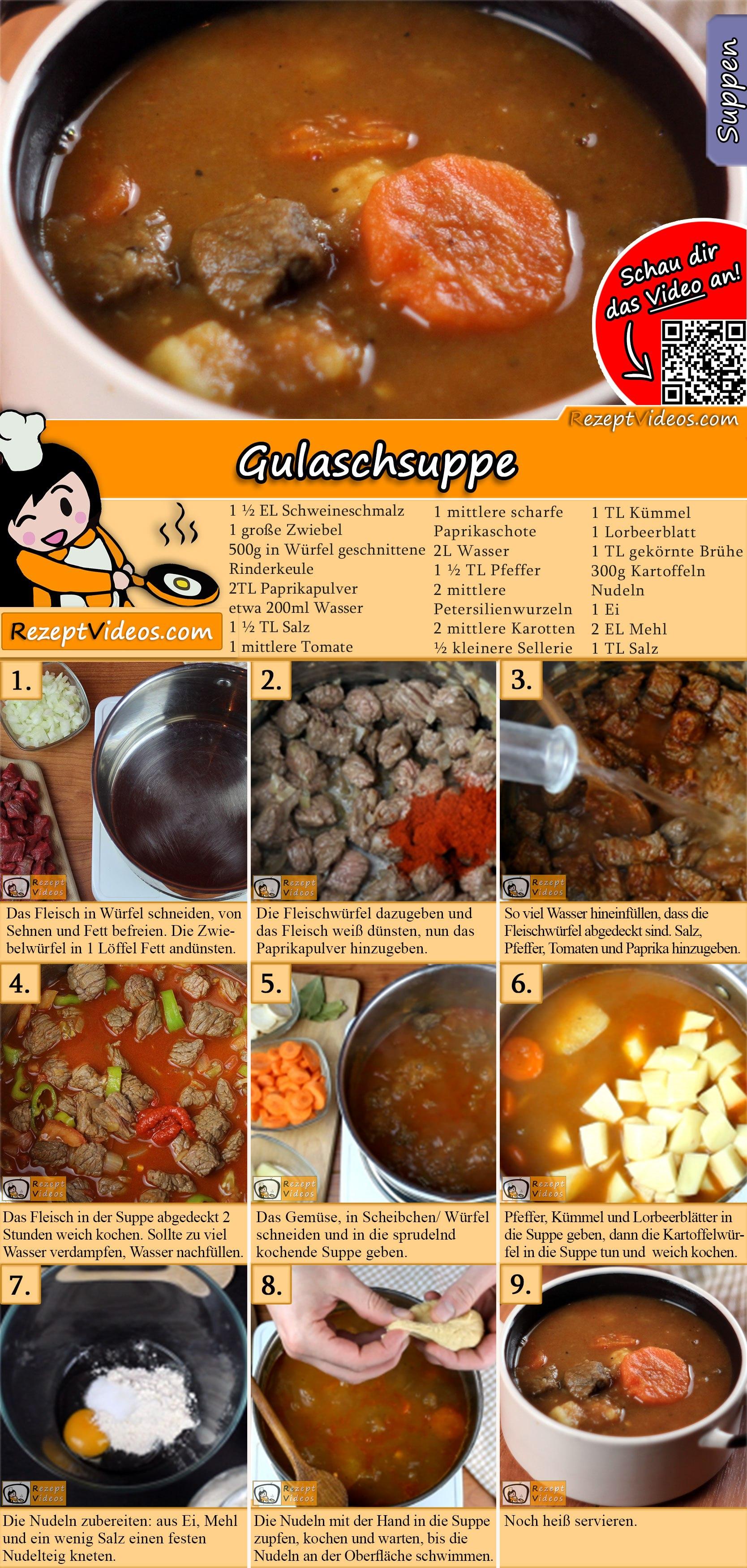 Gulaschsuppe Rezept mit Video