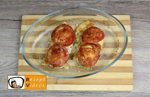 Hähnchenbrust mit Mozzarella und Tomaten Rezept Zubereitung Schritt 11