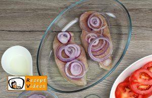Hähnchenbrust mit Mozzarella und Tomaten Rezept Zubereitung Schritt 7