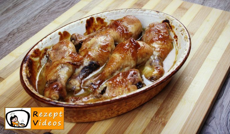 Hähnchenschenkel mit Honig und Senf Rezept - Zubereitung Schritt 3