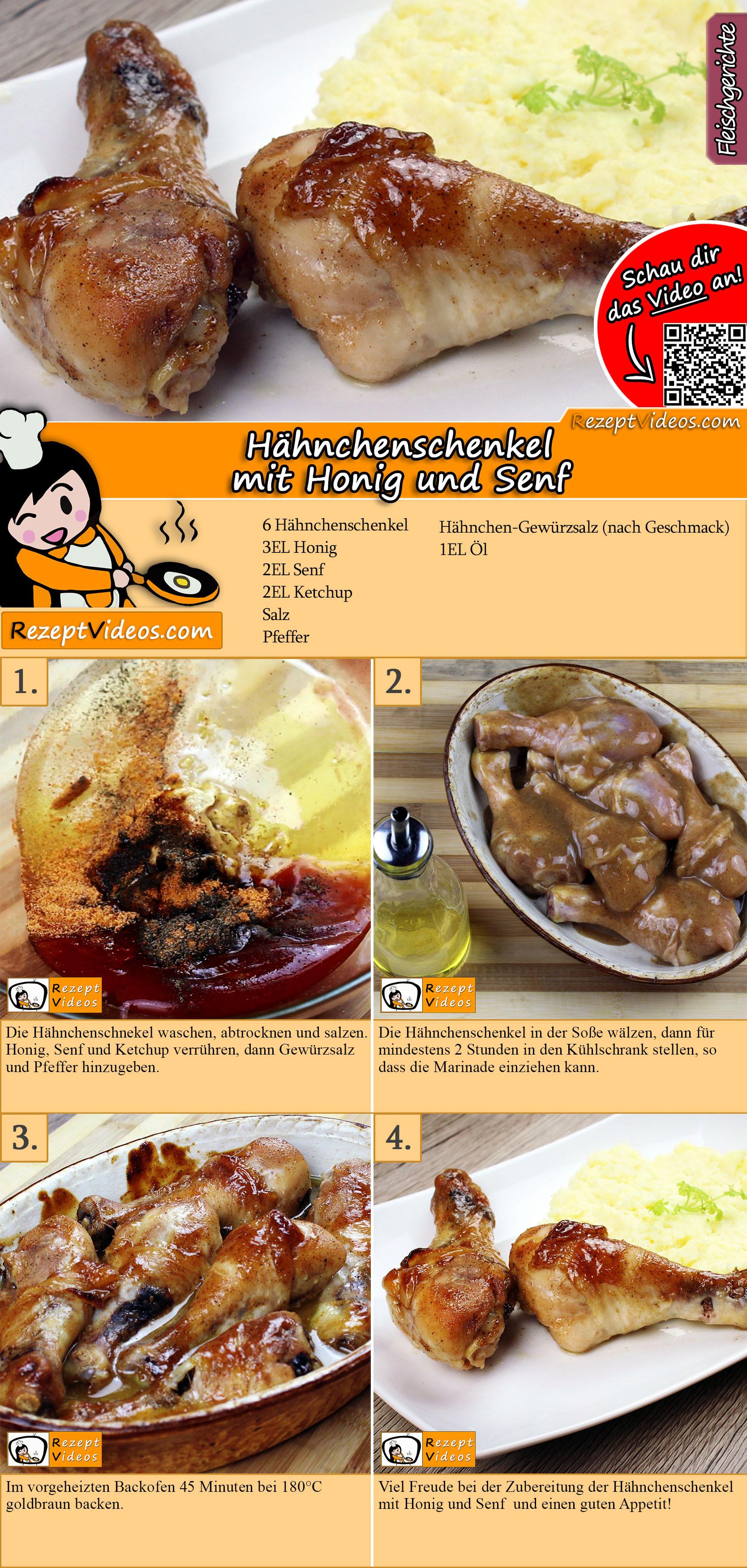 Hähnchenschenkel mit Honig und Senf Rezept mit Video