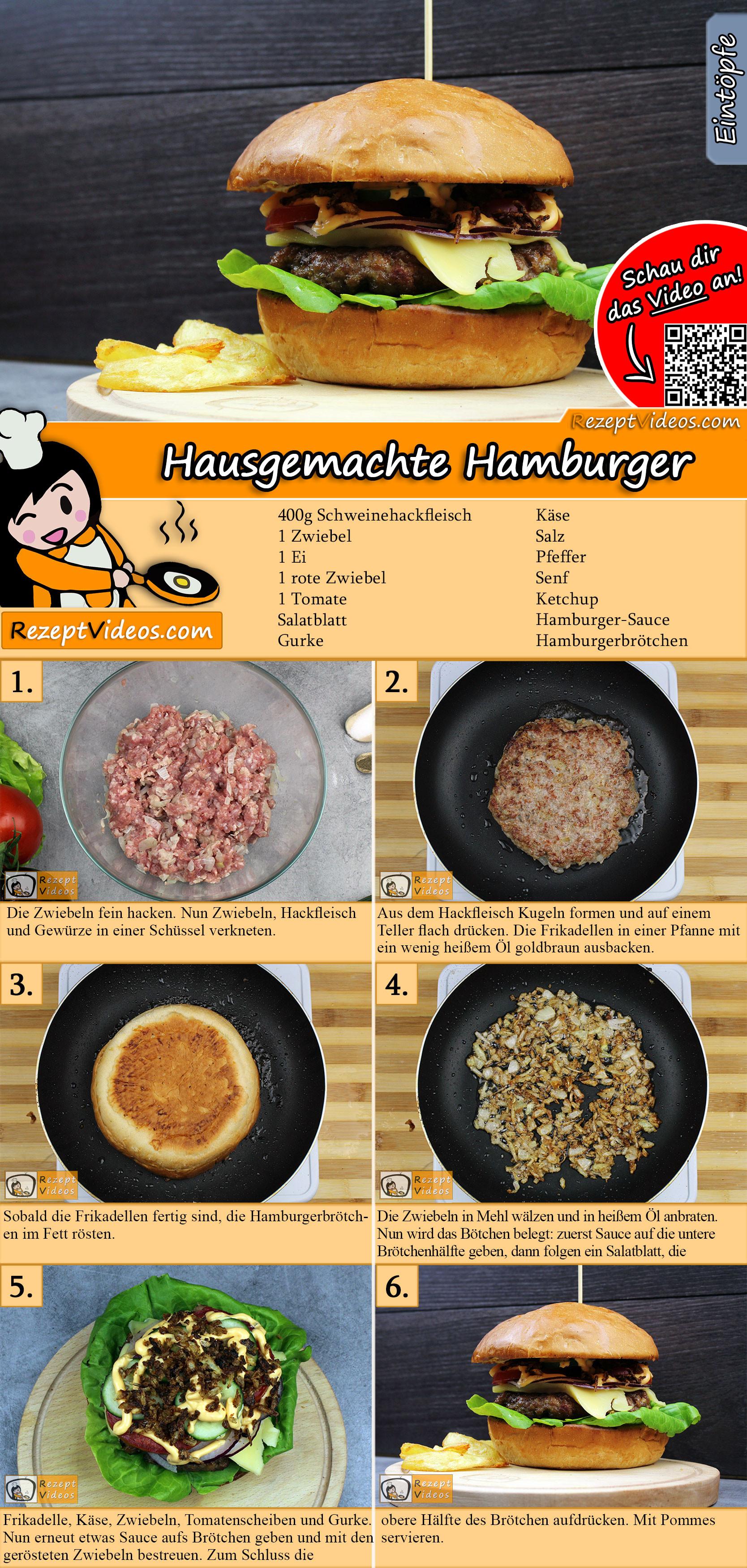 Hausgemachte Hamburger Rezept mit Video