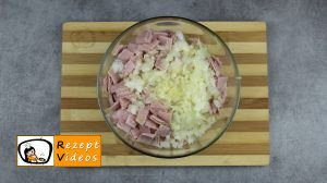 Reisbällchen mit Schinken und Käse Rezept Zubereitung Schritt 3