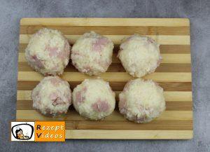 Reisbällchen mit Schinken und Käse Rezept Zubereitung Schritt 4