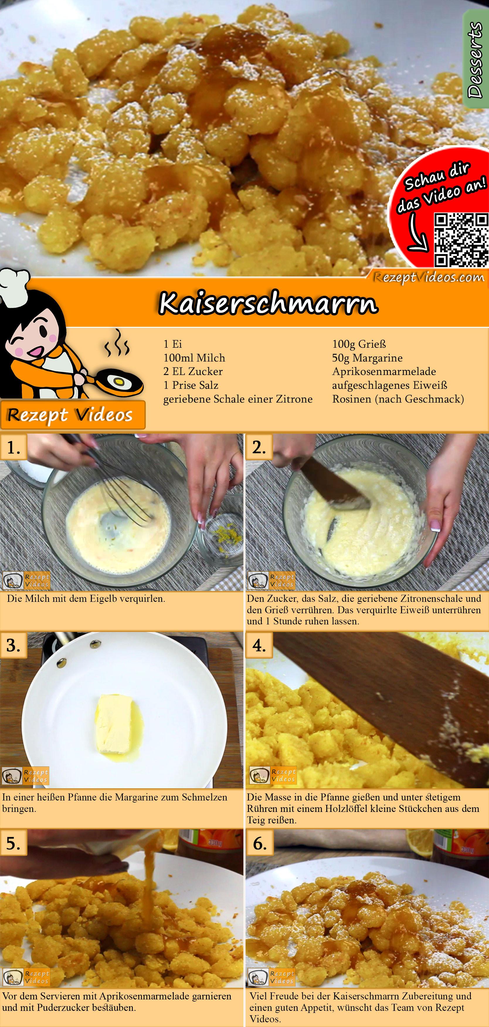 Kaiserschmarrn Rezept mit Video