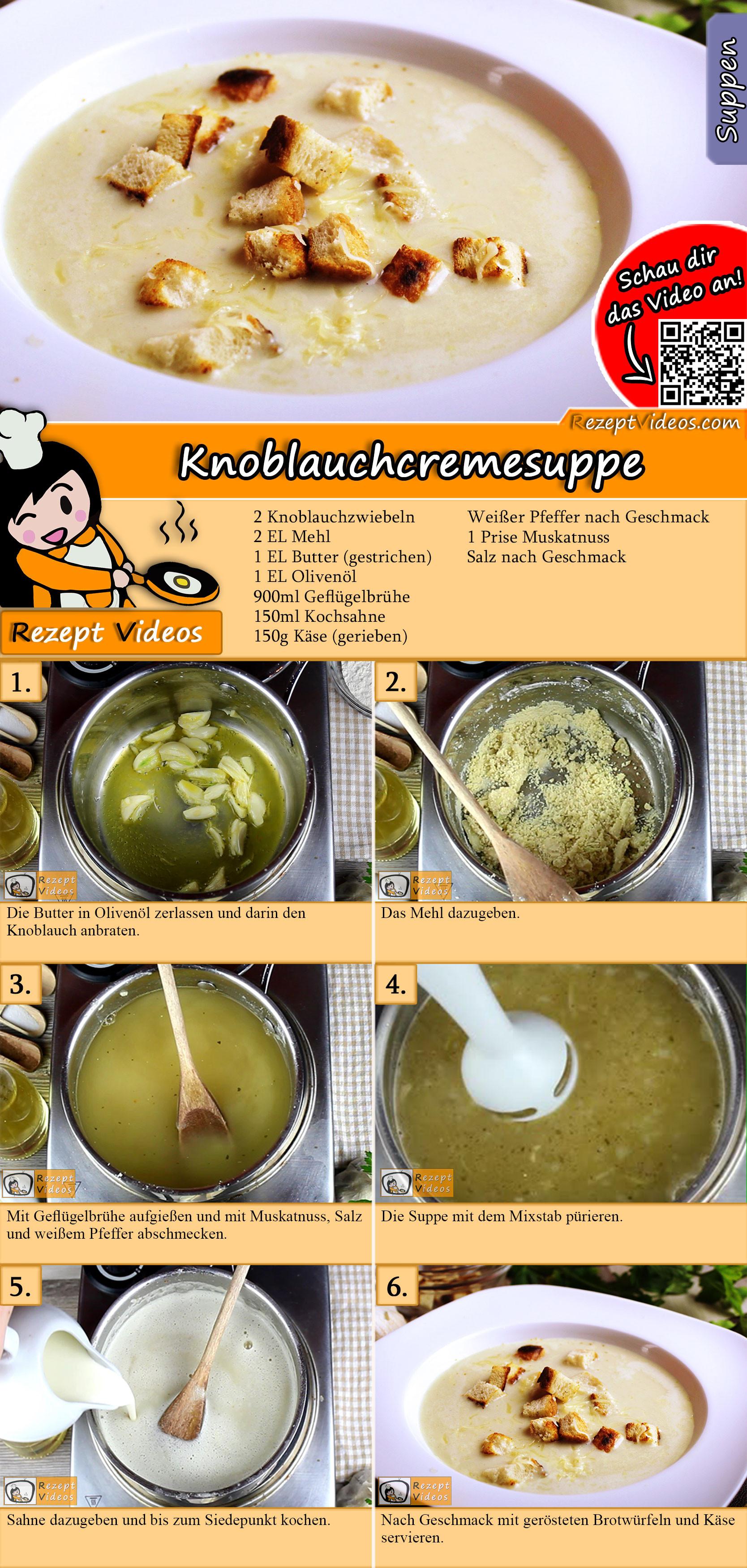 Knoblauchcremesuppe Rezept mit Video