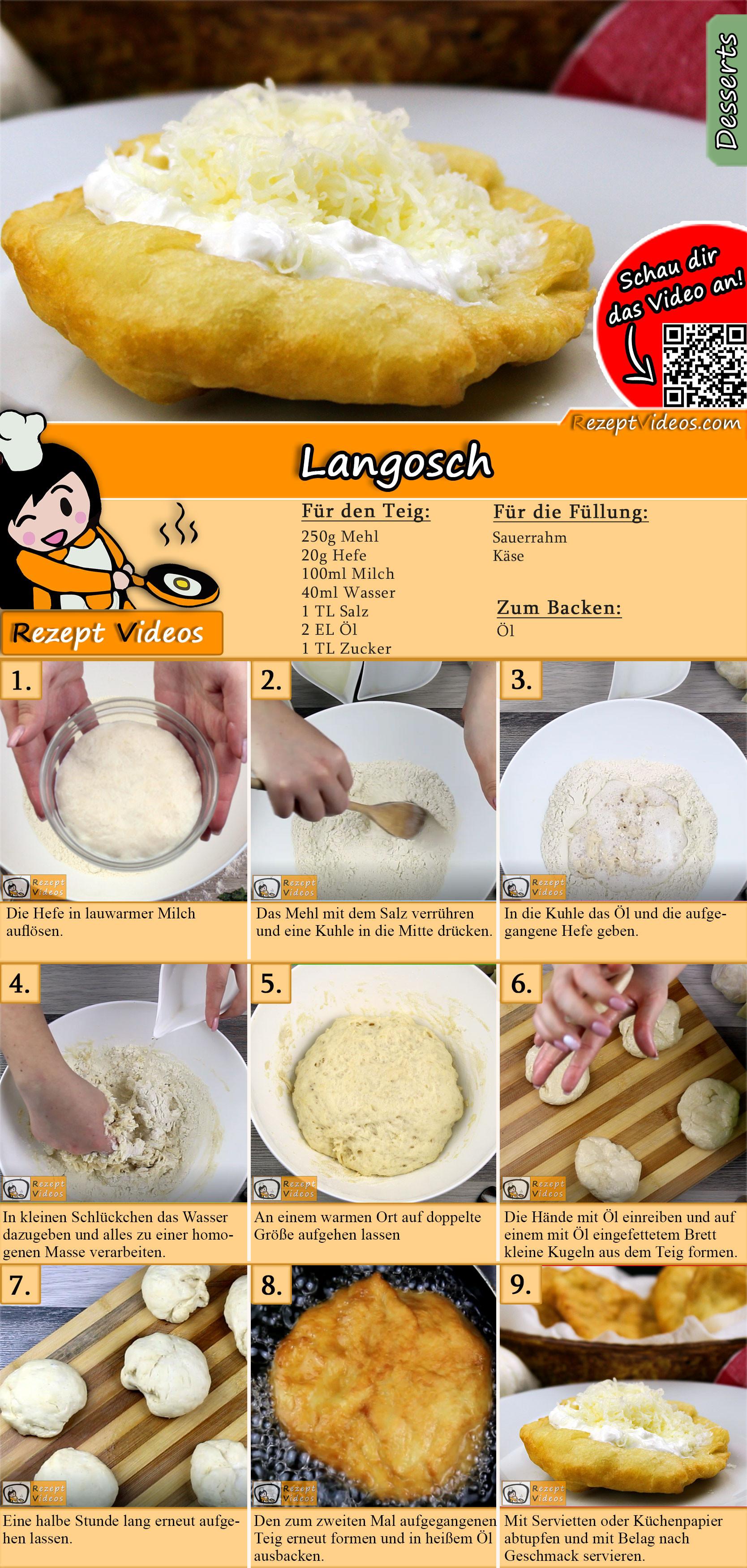 Langosch Rezept mit Video