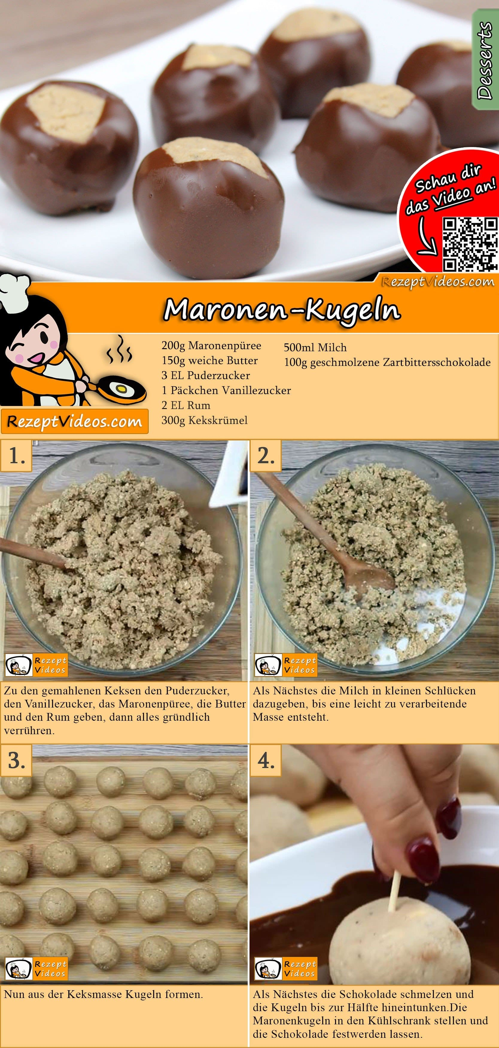 Maronen-Kugeln Rezept with Video