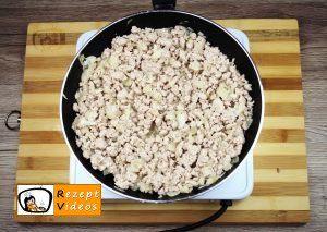 Mit Hackfleischragout gefüllte Aubergine Rezept Zubereitung Schritt 2