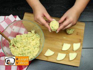 Mit Käse gefüllte Kartoffeltaler Rezept Zubereitung Schritt 5