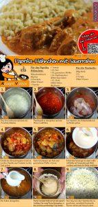 Paprika-Hähnchen mit Sauerrahm Rezept mit Video