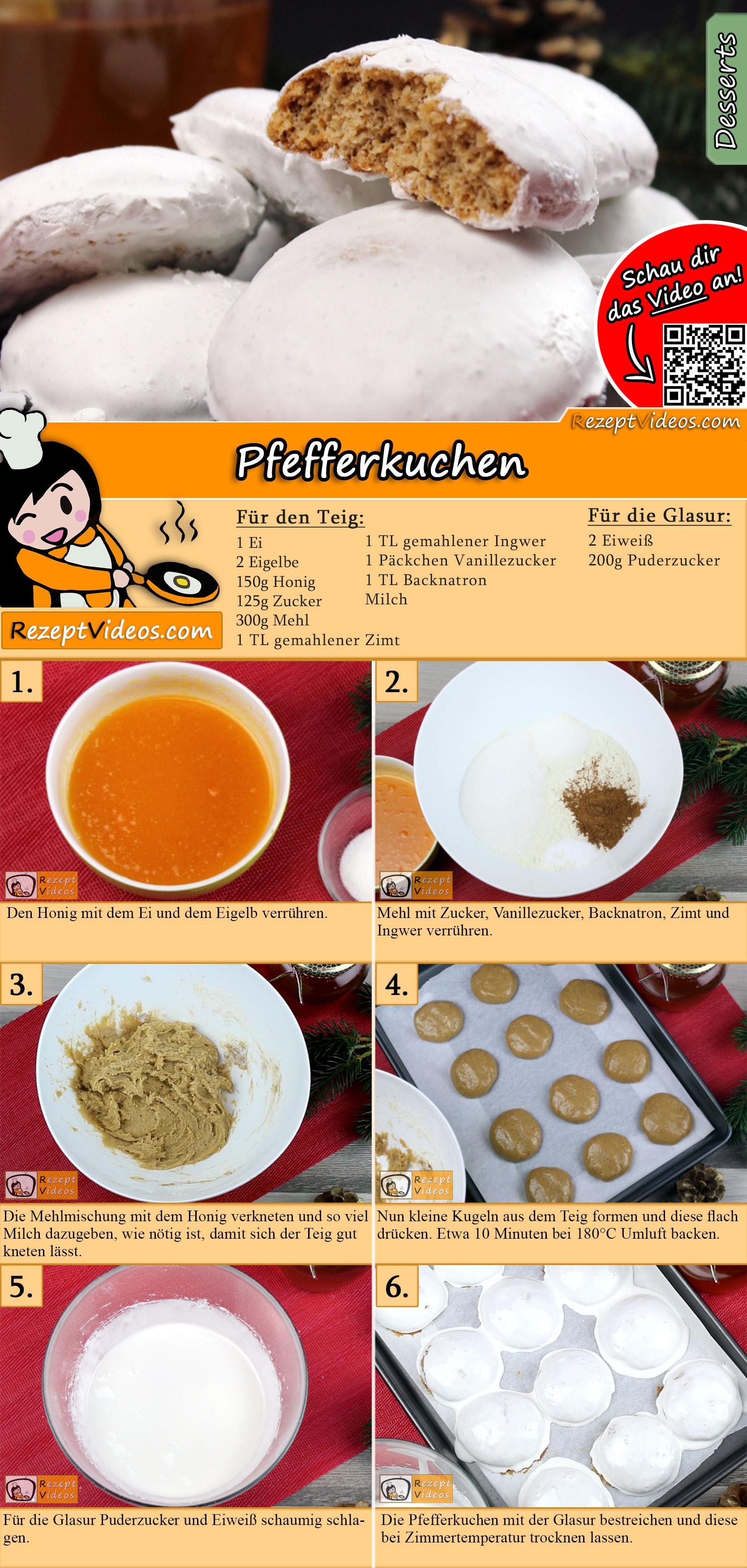 Pfefferkuchen Rezept mit Video