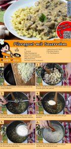 Pilzragout mit Sauerrahm Rezept mit Video