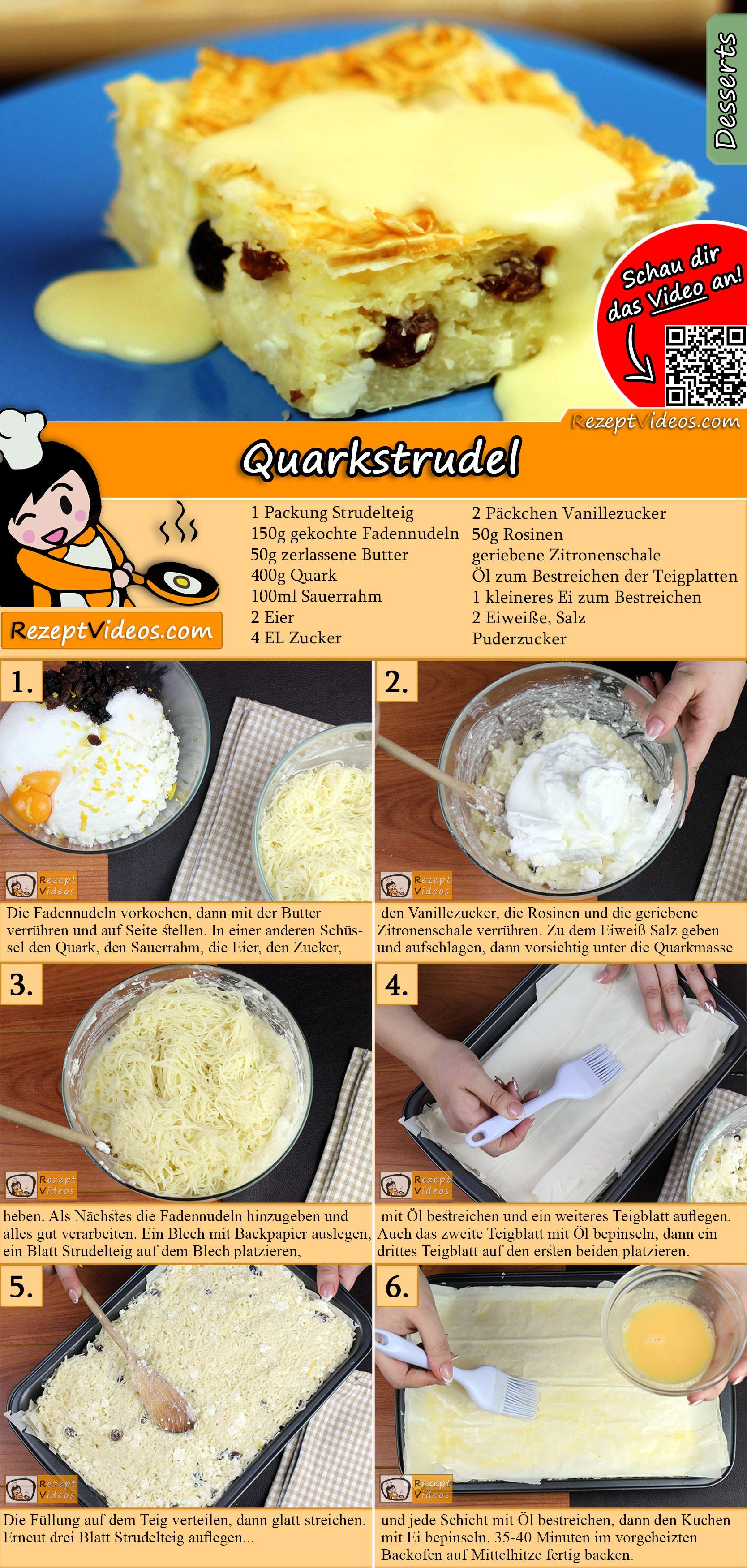 Quarkstrudel Rezept mit Video
