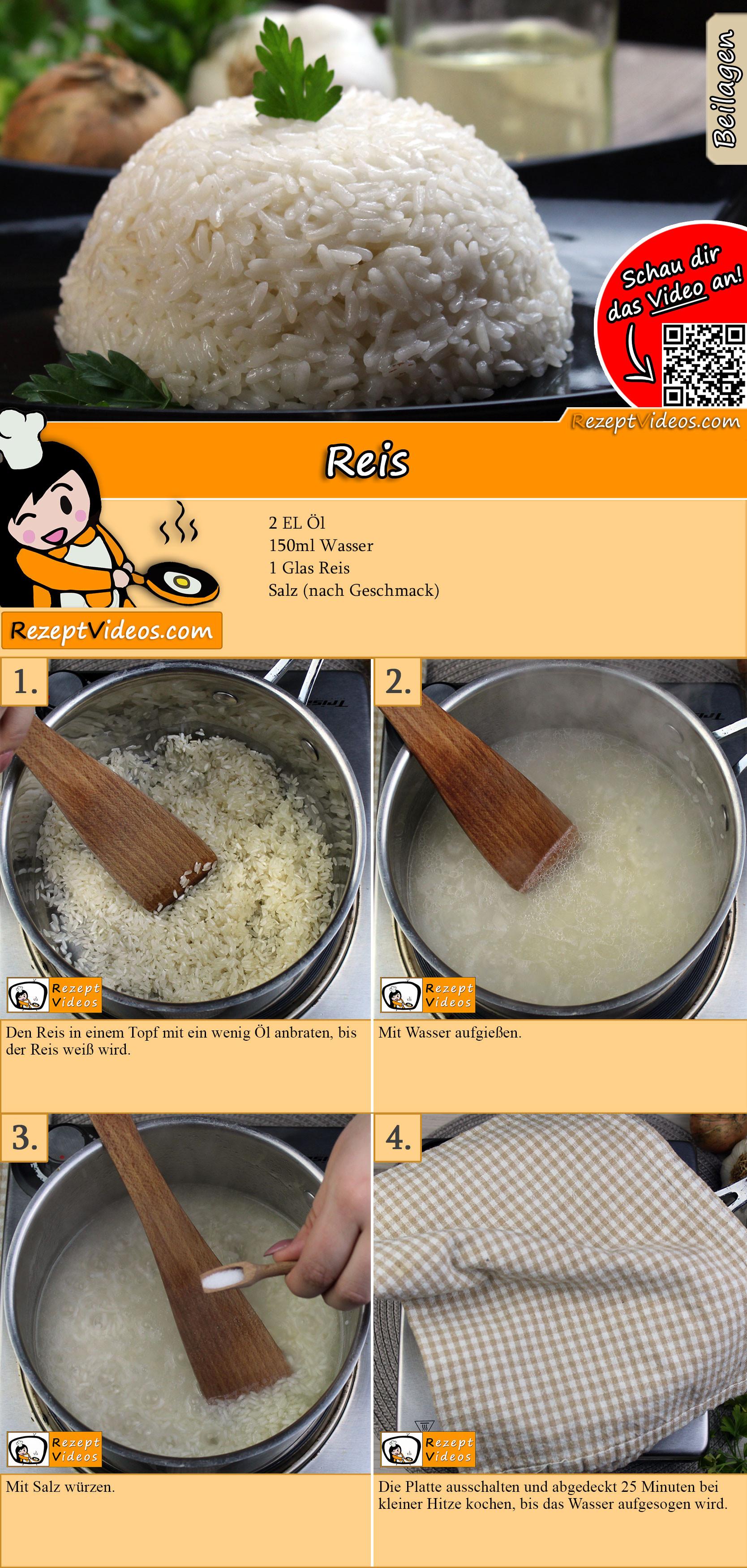 Reis Rezept mit Video