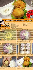 Reisbällchen mit Schinken und Käse Rezept mit Video