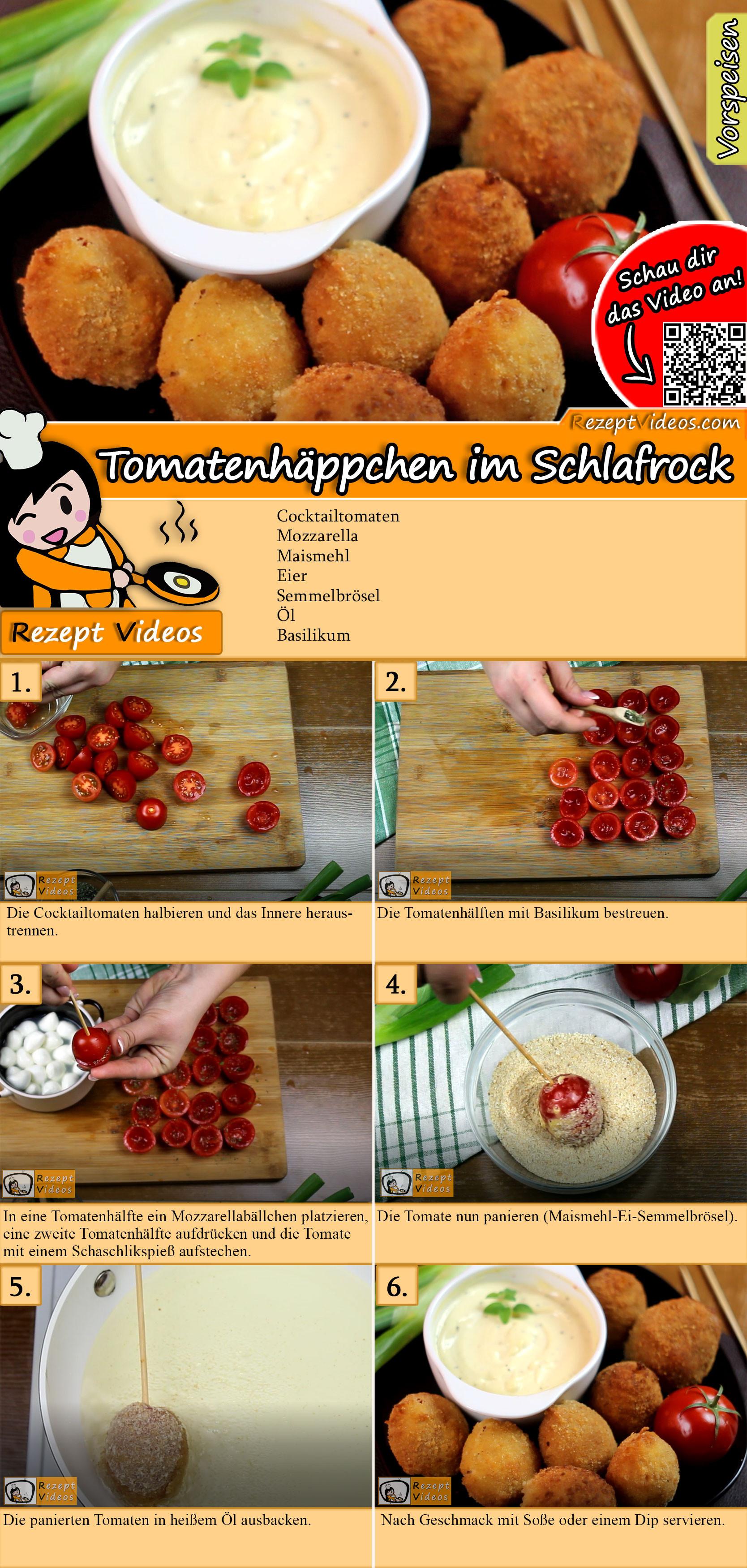 Tomatenhäppchen im Schlafrock Rezept mit Video