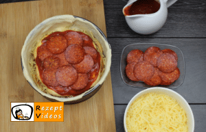 Überbackene Mini-Pizza Rezept - Zubereitung Schritt 5