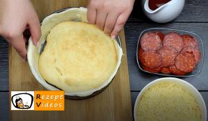 Überbackene Mini-Pizza Rezept - Zubereitung Schritt 3