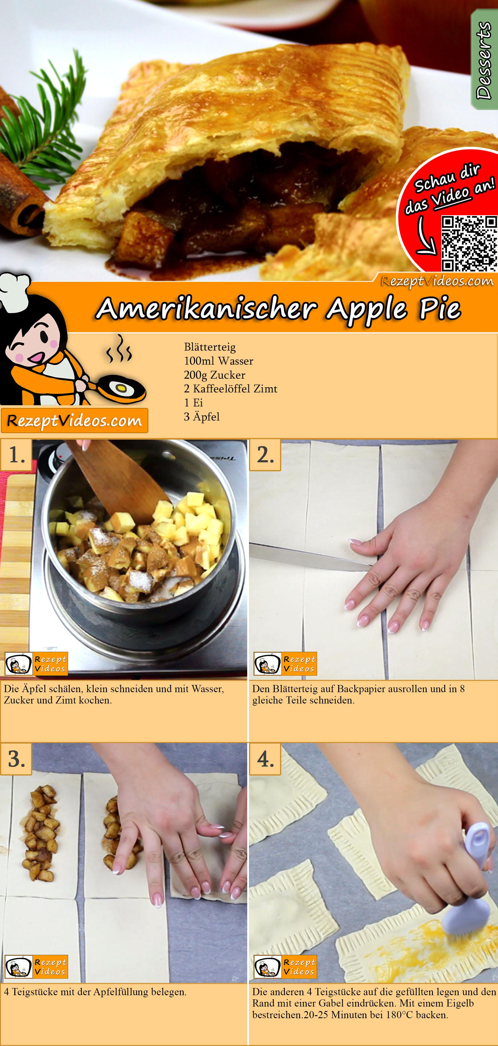 Amerikanischer Apple Pie Rezept mit Video