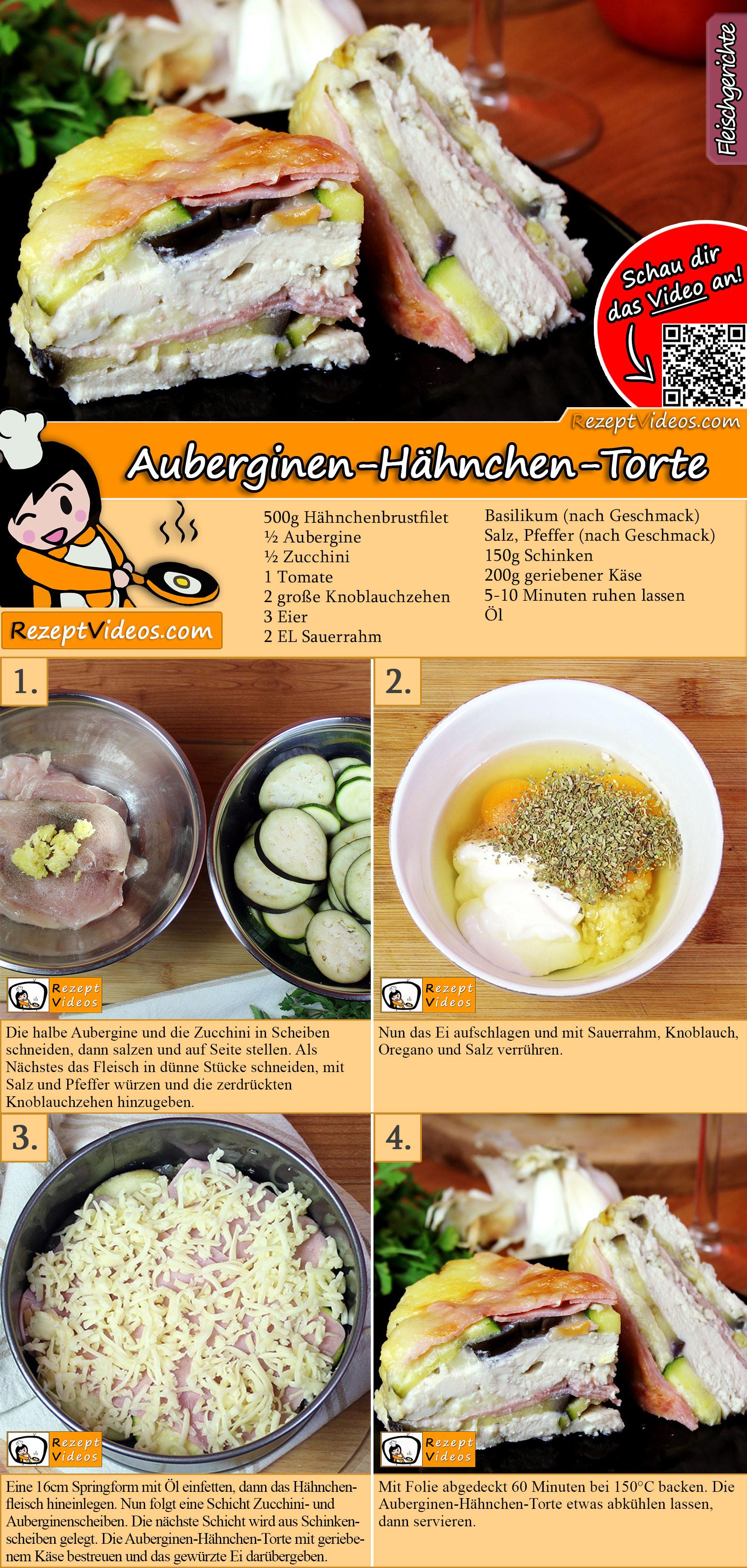 Auberginen-Hähnchen-Torte Rezept mit Video