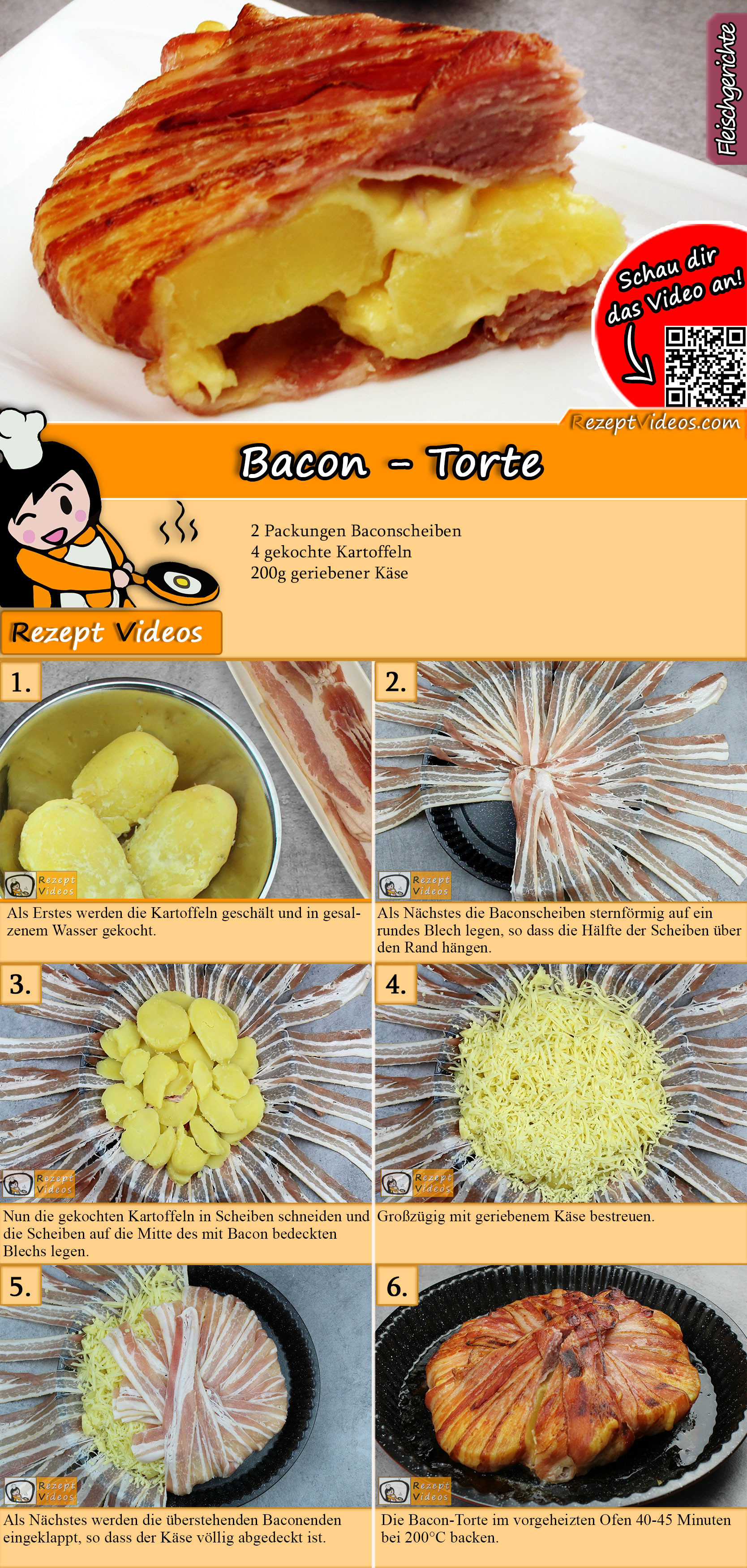 Bacon-Torte Rezept mit Video