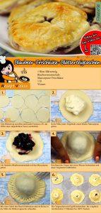 Blaubeer-Frischkäse-Blätterteigtaschen Rezept mit Videos