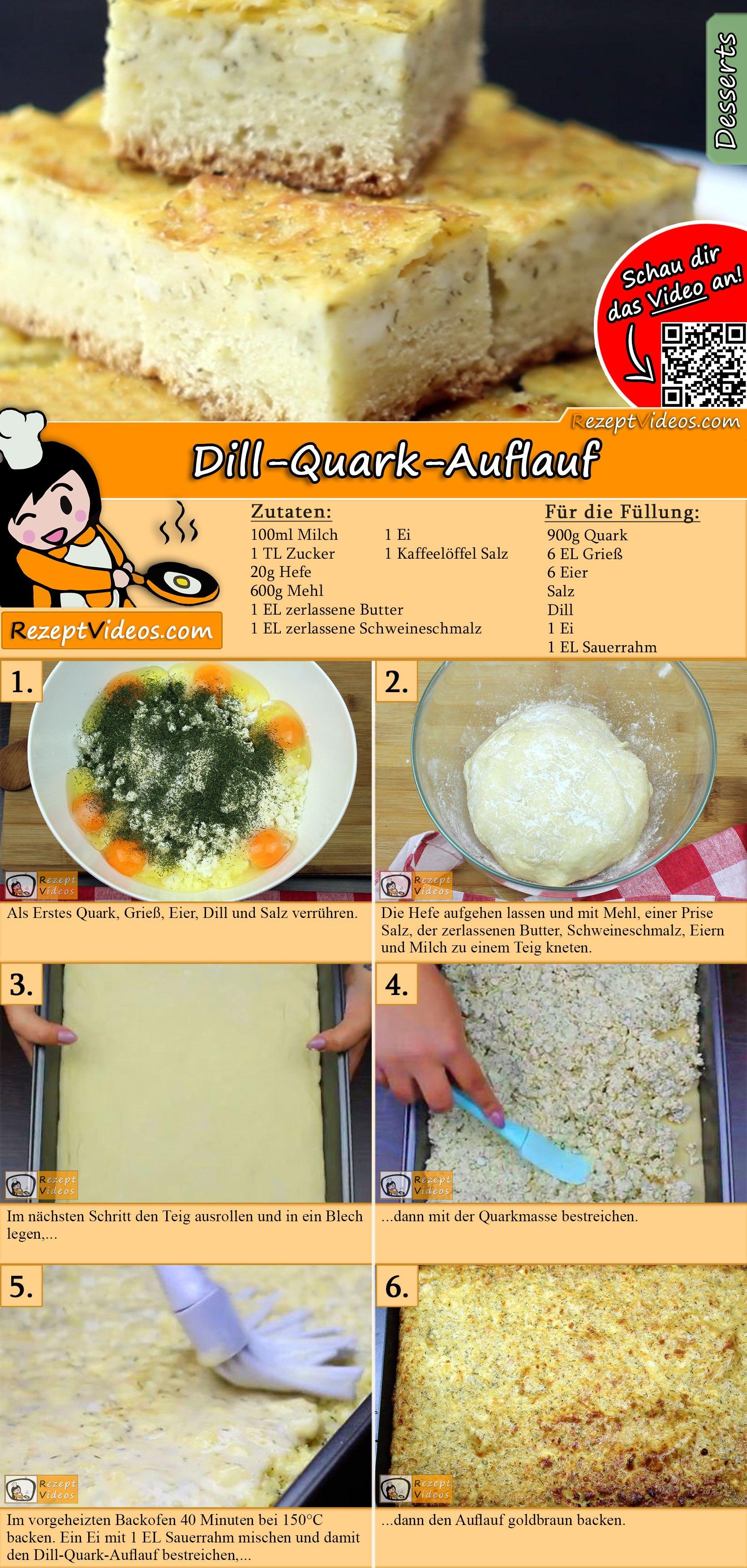 Dill-Quark-Auflauf Rezept mit Video