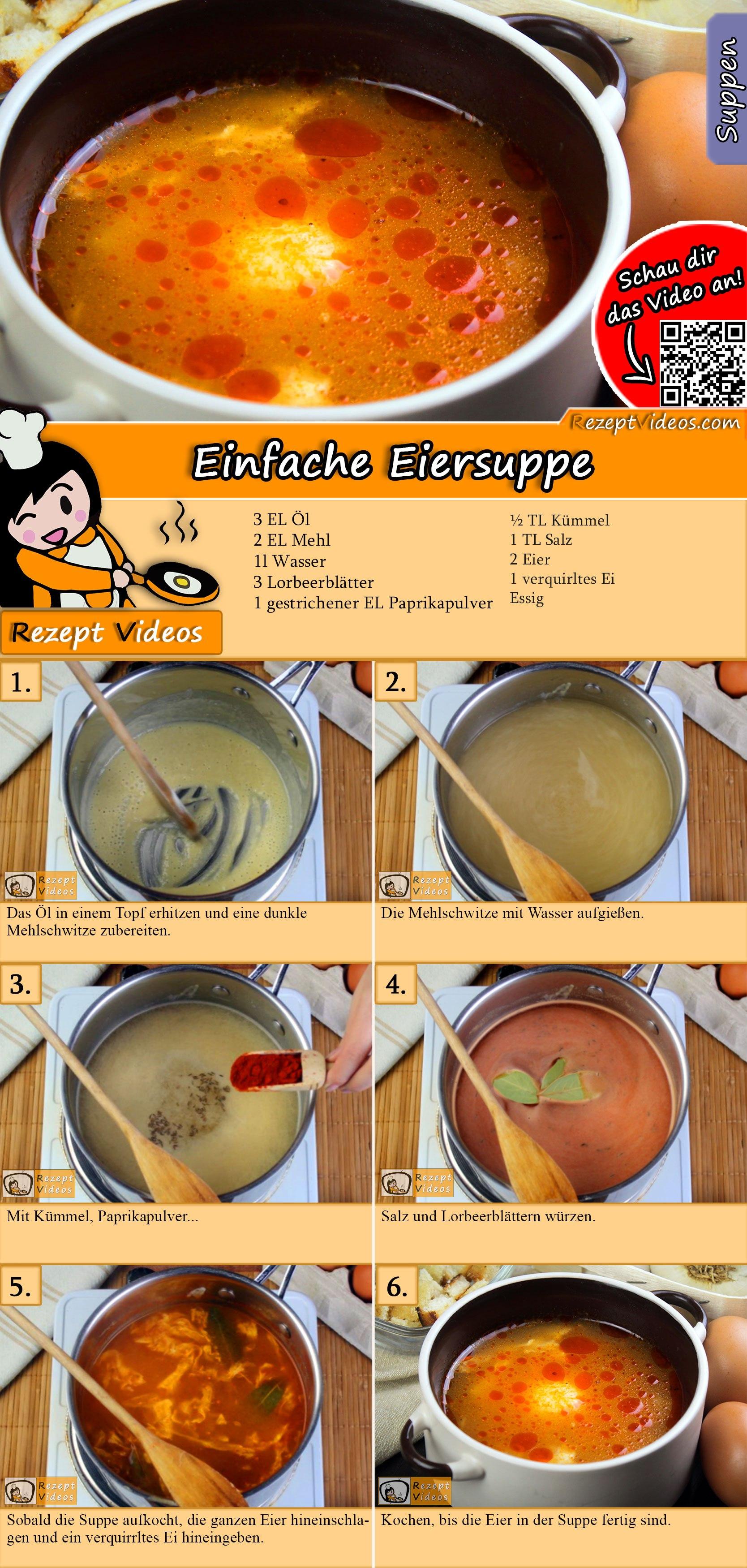 Einfache Eiersuppe Rezept mit Video