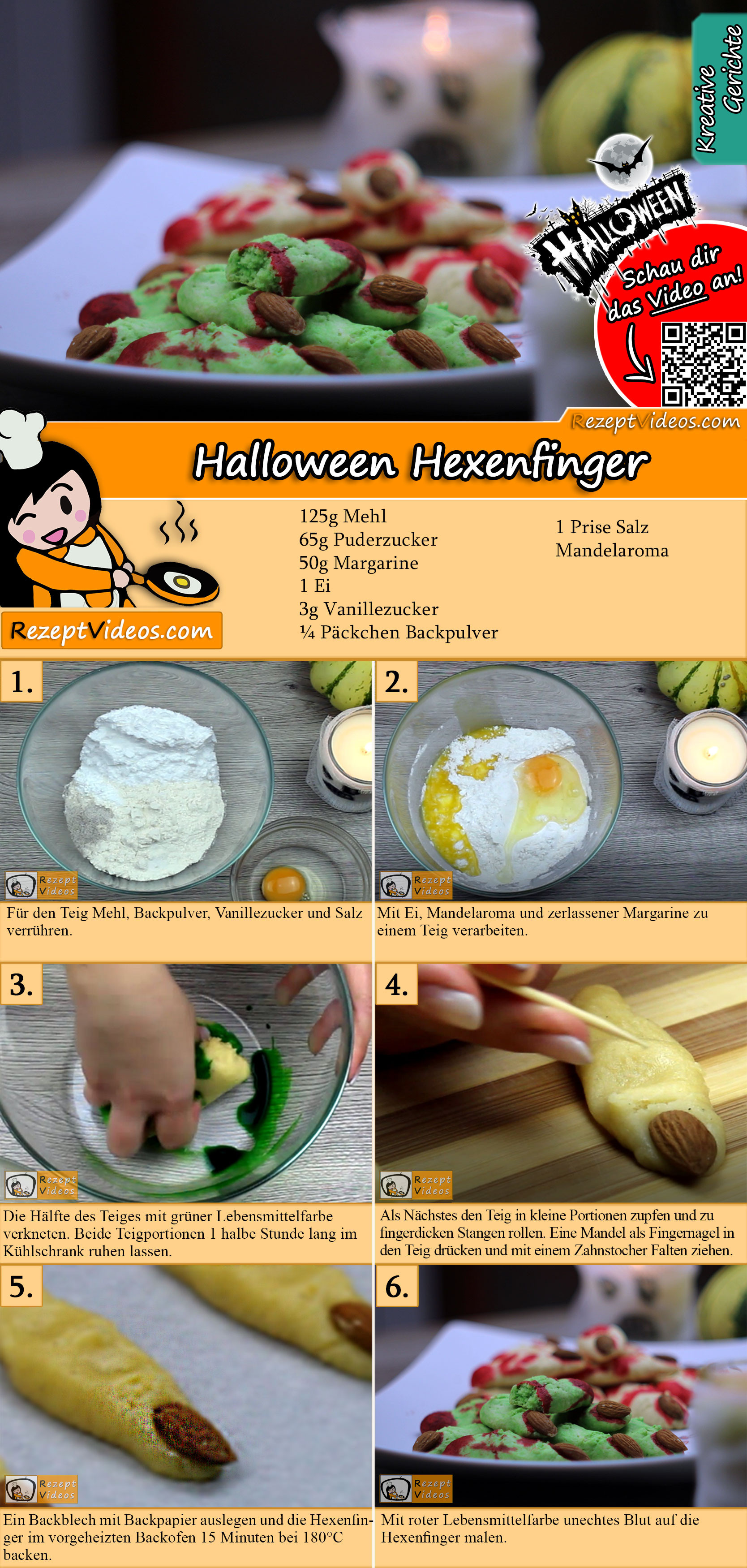 Halloween Hexenfinger Rezept mit Video