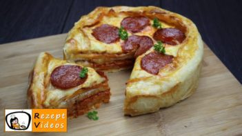 Überbackene Mini-Pizza