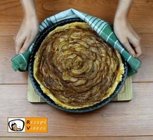 Apfelrosen-Kuchen Rezept Zubereitung Schritt 10