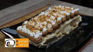 Karamell-Löffelbiskuit-Schnitten Rezept Zubereitung Schritt 12
