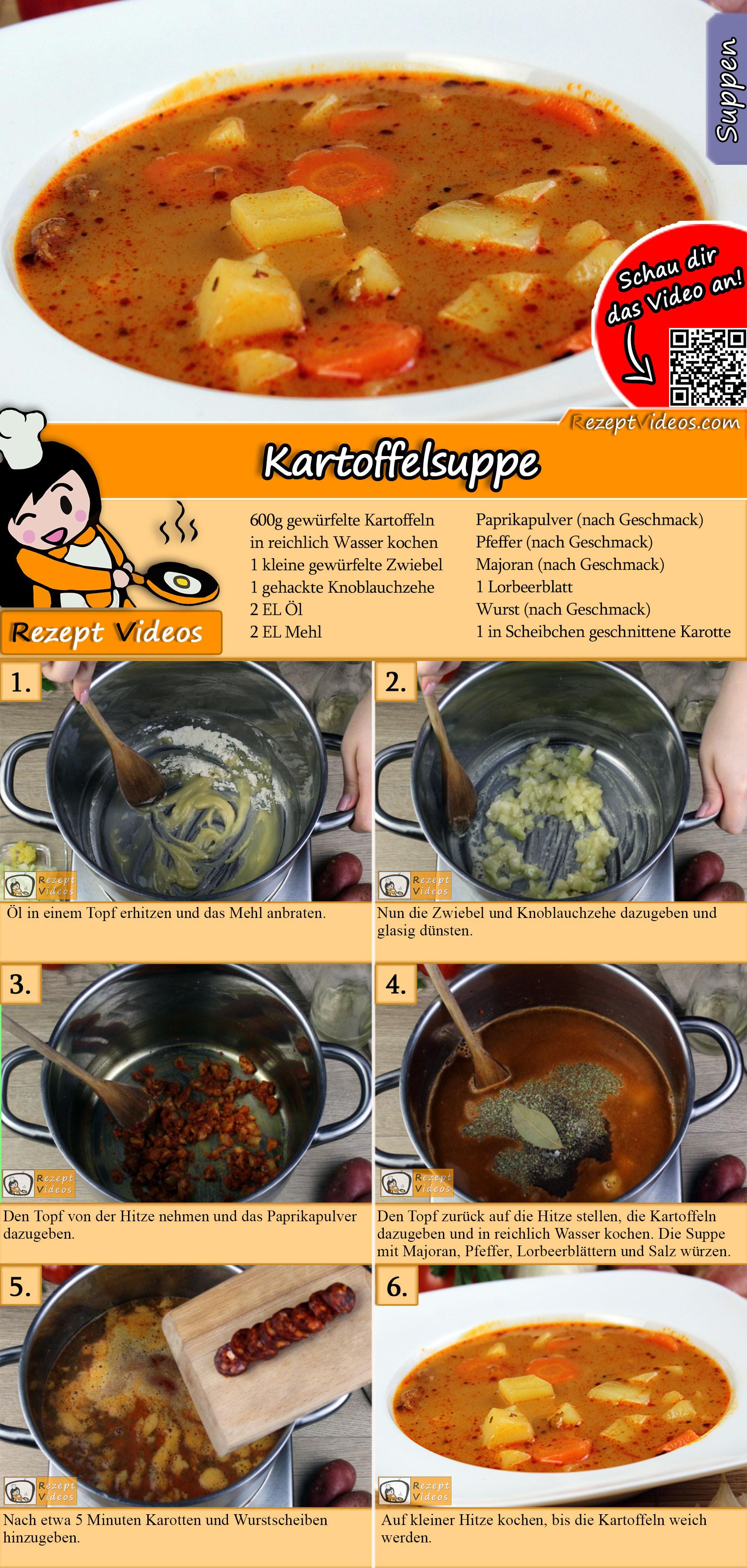 Kartoffelsuppe Rezept mit Video