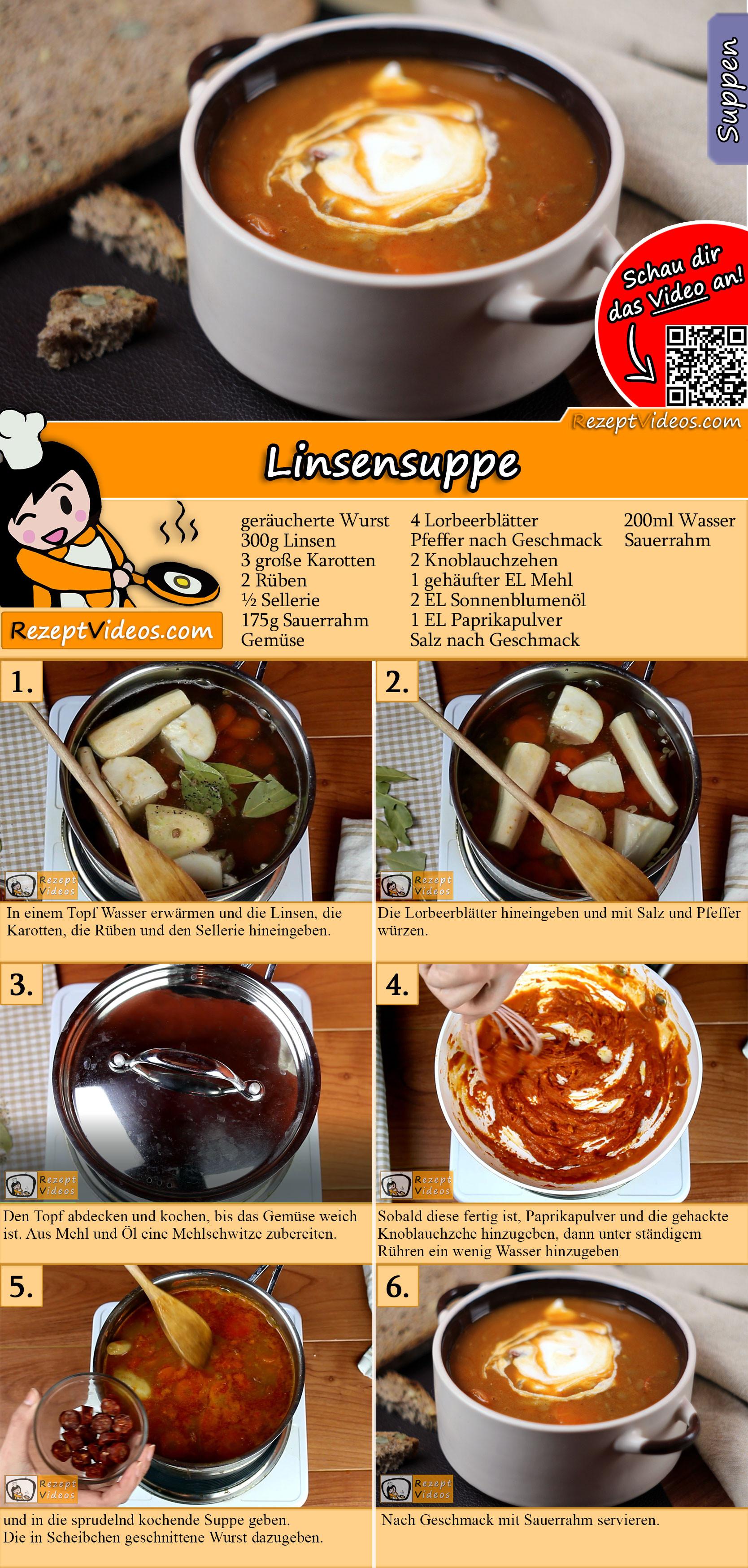 Linsensuppe Rezept mit Video