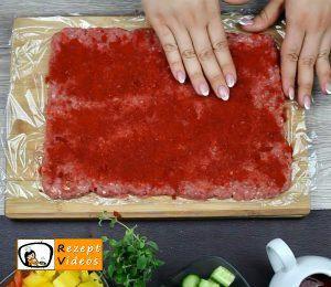 Makkaroni-Fleisch-Rolle Rezept Zubereitung Schritt 2