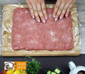 Makkaroni-Fleisch-Rolle Rezept Zubereitung Schritt 1