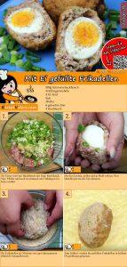 Mit Ei gefüllte Frikadellen Rezept mit Video