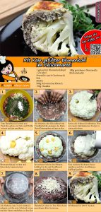 Mit Käse gefüllter Blumenkohl im Fleischmantel Rezept mit Video