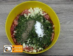 Mit Käse gefüllter Blumenkohl im Fleischmantel Rezept Zubereitung Schritt 1