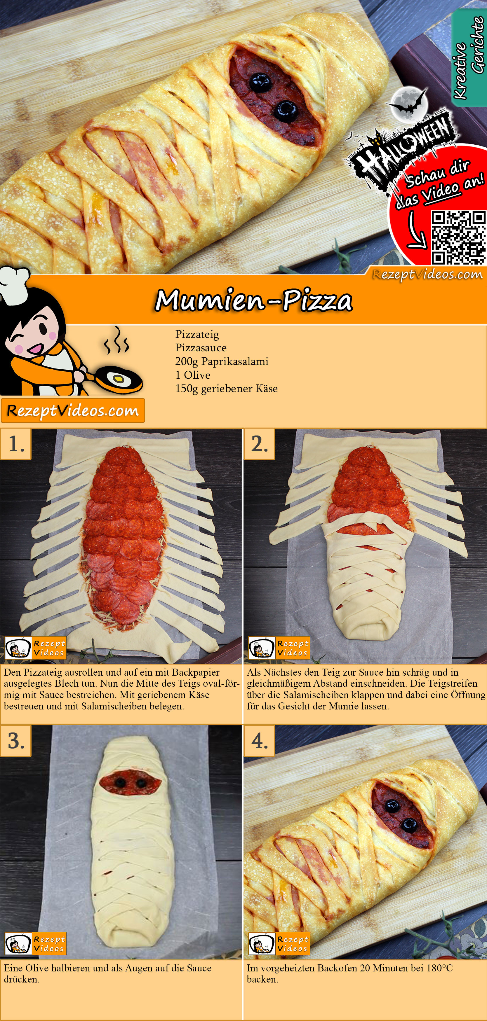 Mumien-Pizza Rezept mit Video