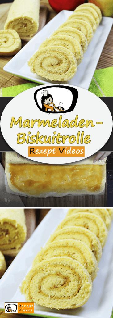 Marmeladen-Biskuitrolle, , Rezept Videos, schnelle Gerichte, einfache Rezepte, Rezeptideen, Kuchen Rezepte, Kuchenrezepte, Backen, selber backen,