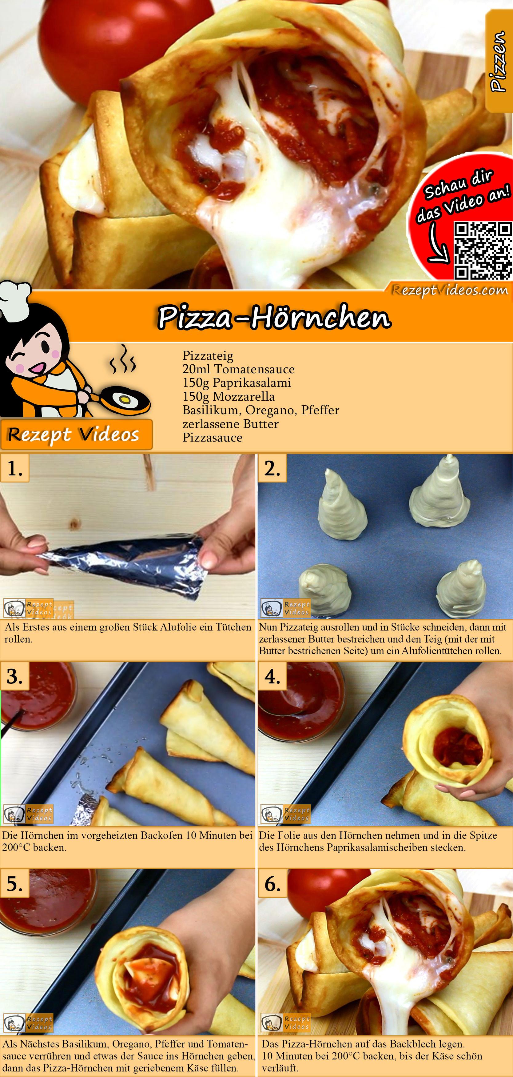 Pizza-Hörnchen Rezept mit Video